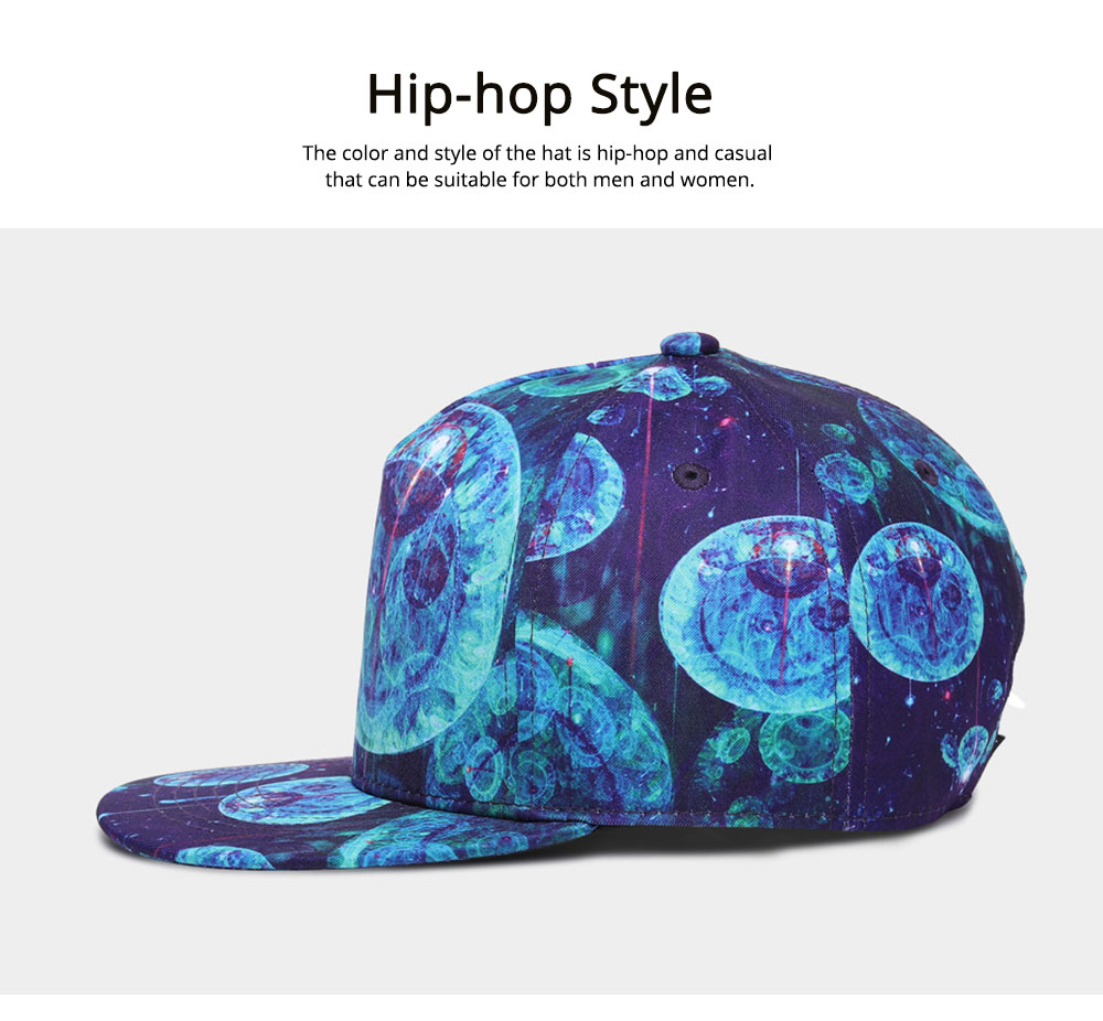 Hip-hop Baseball Cap for Men Women with Jellyfish Pattern Adjustable for Sunny Day Outdoors Cap 5