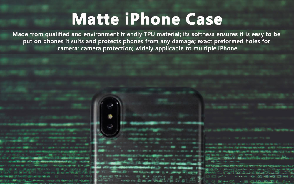 Original Creative Matte Phone Case for iPhone 8 plus, Anti-impact Trending iPhone X/iPhone 6s/7/7 Plus Phone Case 0