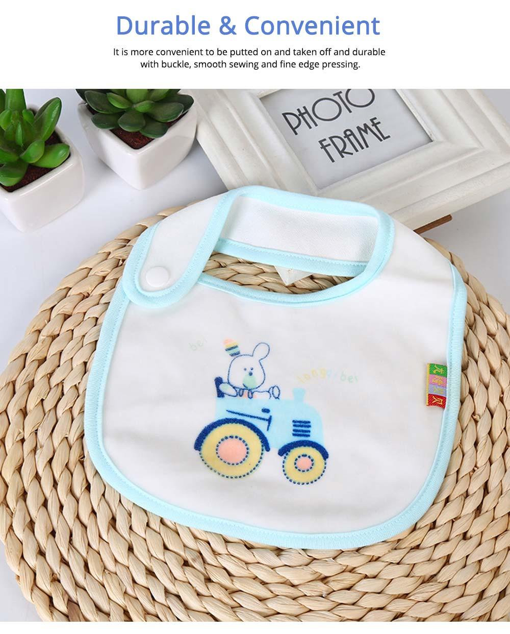Cotton Velvet Material Saliva Towel for Baby, Waterproof Saliva Cover with Buckle Baby Bib 3