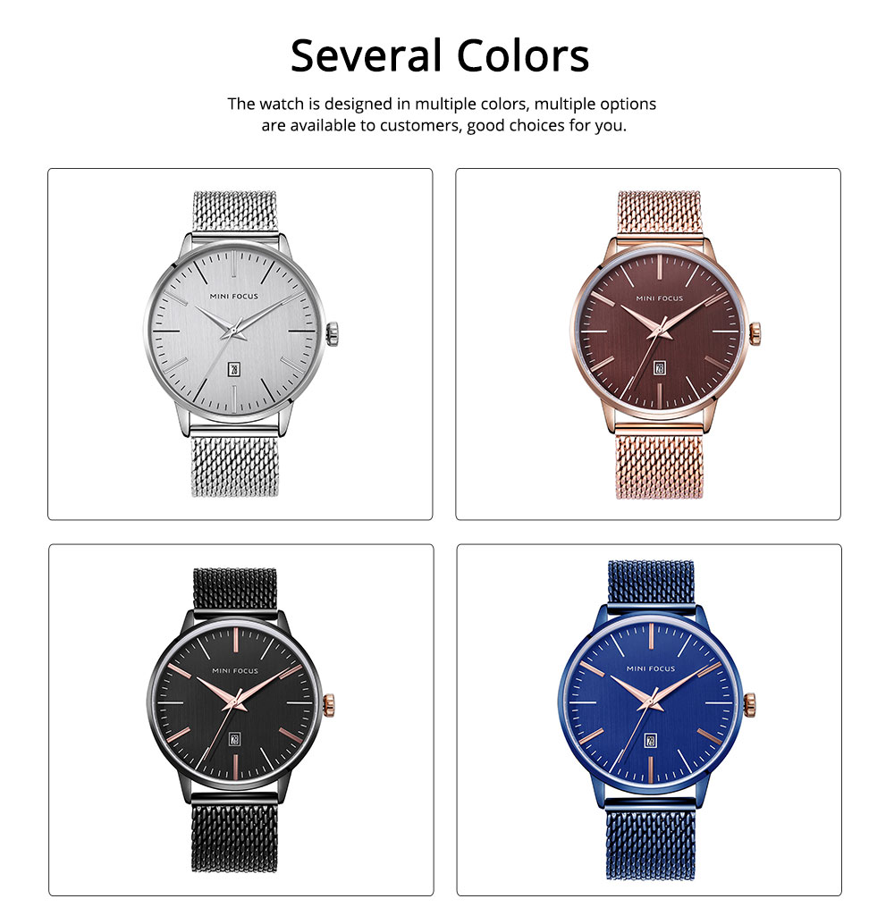 Steel Strap Quartz Watch for Men, Water-proof Round Alloy Dial Watch Wear-proof Classic Watch 1