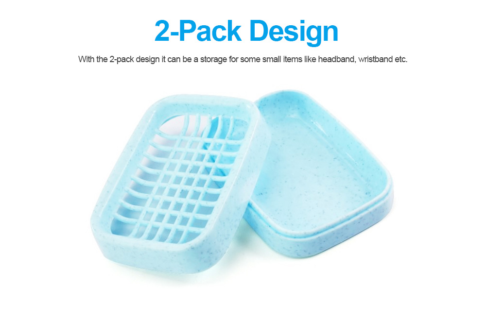 Environmental PP Soap Holder with Grid Drain Container for Bathroom, Kitchen, Multifunctional Soap Dispenser 3