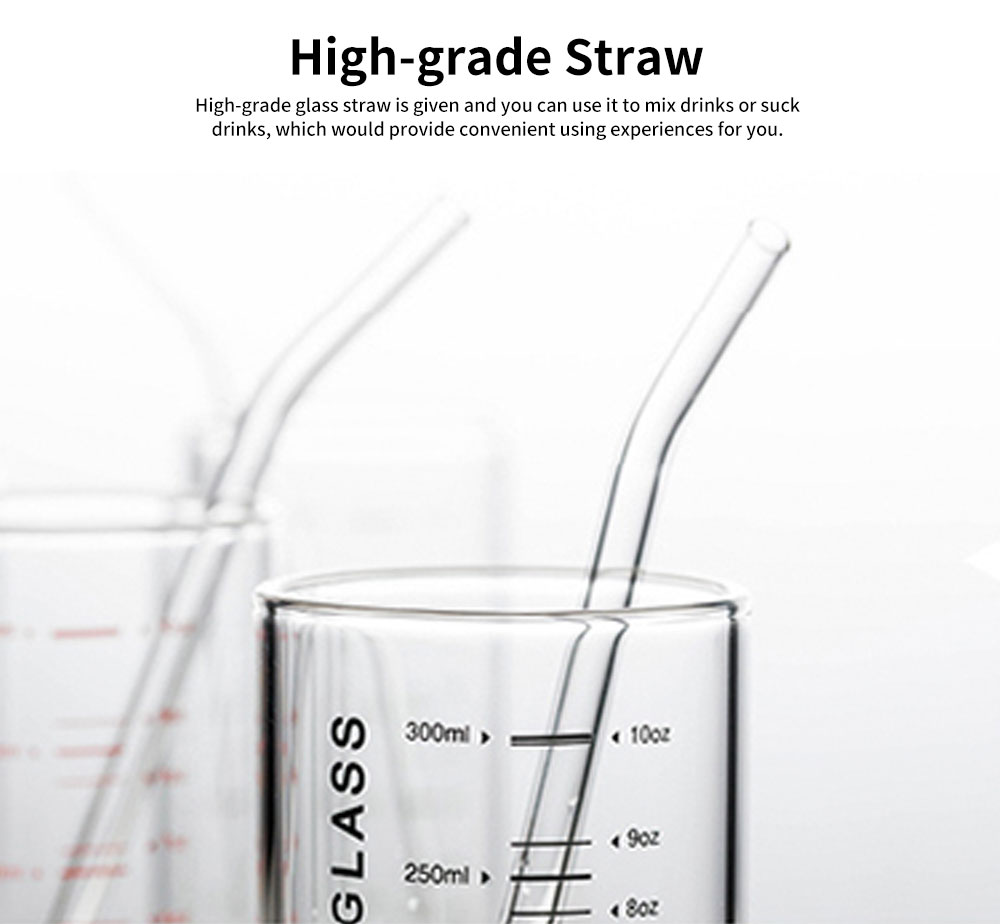 Delicate Transparent High Boron Practical Measuring Glass, Large Capacity Heat-resistant Breaking-proof Glass Cup with Graduation Mark 3