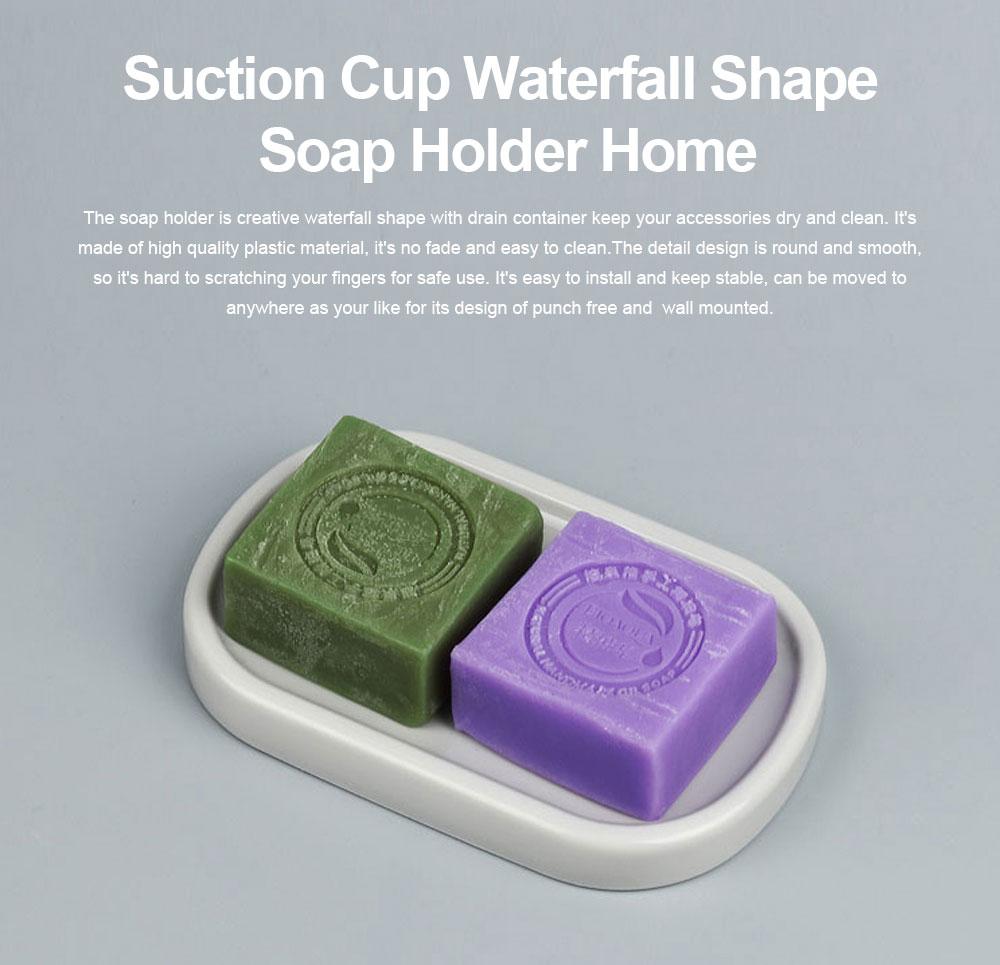 Creative Circular Asphalt Soap Box for Bathroom, Concise Bathroom Soap Holder for Men Women Soap Organizer Box 0