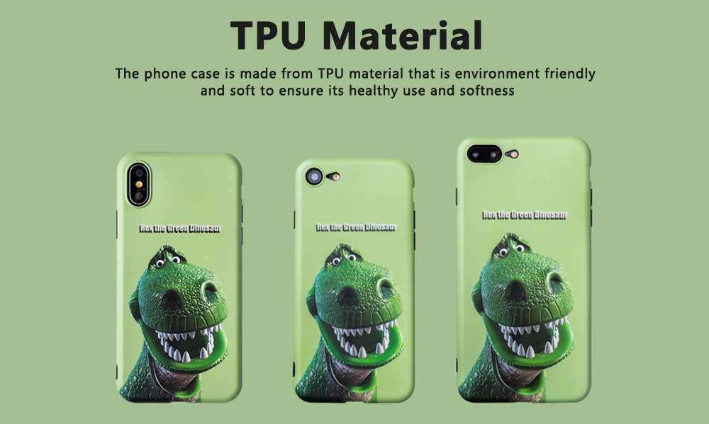 Dinosaur Pattern Creative Phone Case for iPhone 8 plus, iPhone XR,  Trending iPhone 6s/7/7 Plus Phone Cases 1