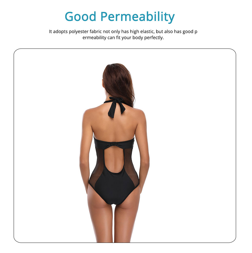 Hollow-out Bikini with Comfortable and Skin-friendly Polyester and Spandex Fabric for Ladies, No Rims One-piece Swimsuit 4