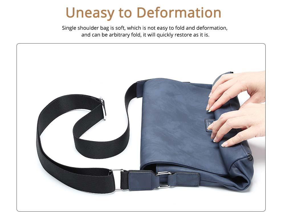 Single Shoulder Bag PU Material Bag for Men Large Capacity Bag Waterproof Pack 1