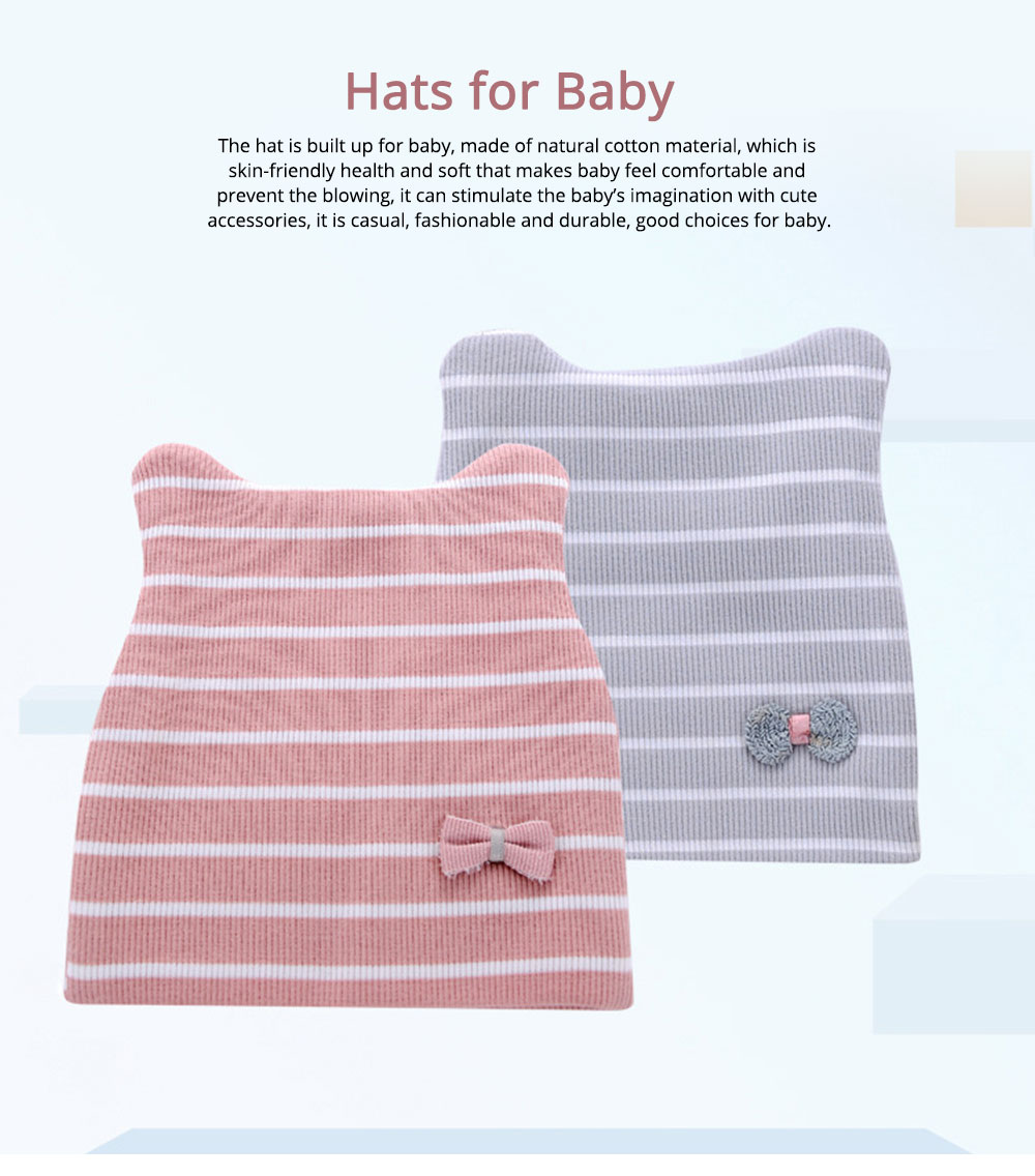 Natural Cotton Hat High Elasticity Headgear with Cute accessories for Baby Cap 0