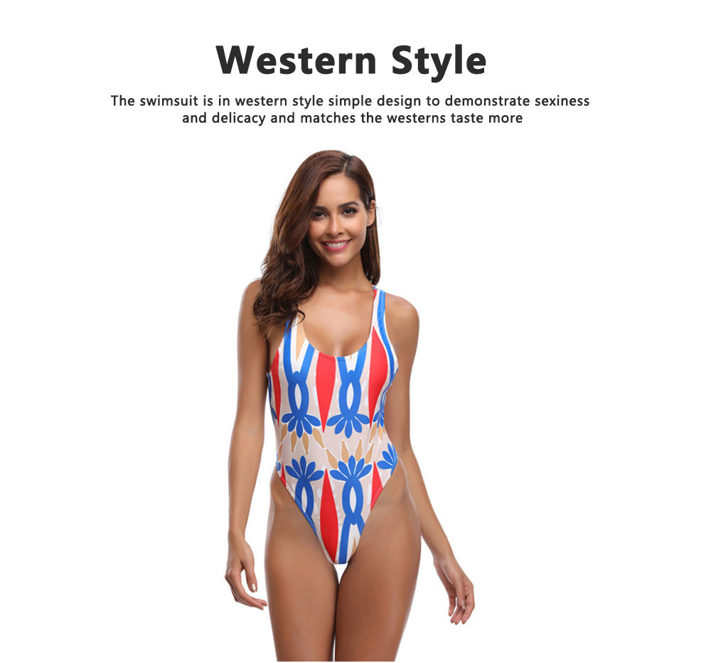 Vintage Style Romance Floral Classic Swimsuit, One-piece Swimsuit Women Bikini Best-selling in 2019  3