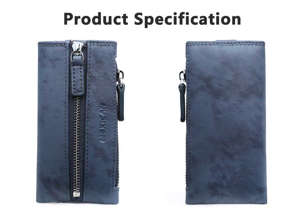 Leather Key Case for Men, Waist Hanged Zipper Key Case for Women, Multipurpose Key Case Wallet Mini Coin Purse 8