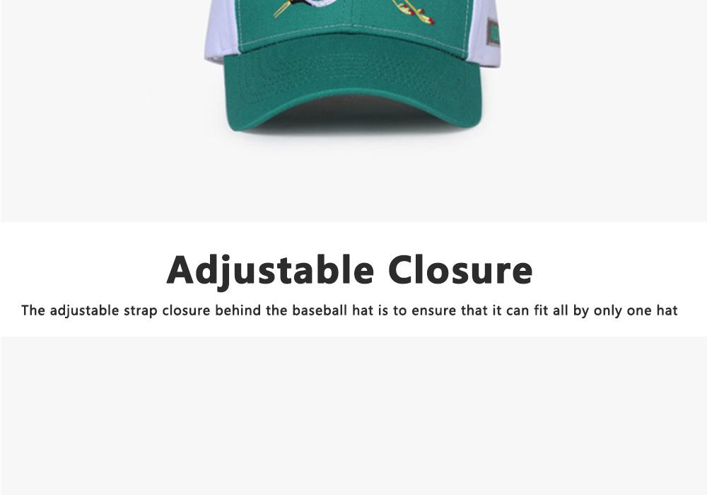 Creative Embroidered Baseball hats for Men, All-match Women Trending Baseball Cap  3