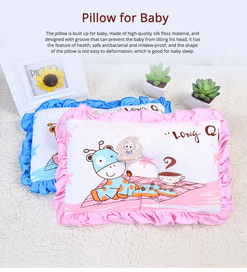 Silk Floss Material Mildew-proof Pillow with Lace Health for Baby Sleep Pillow 0