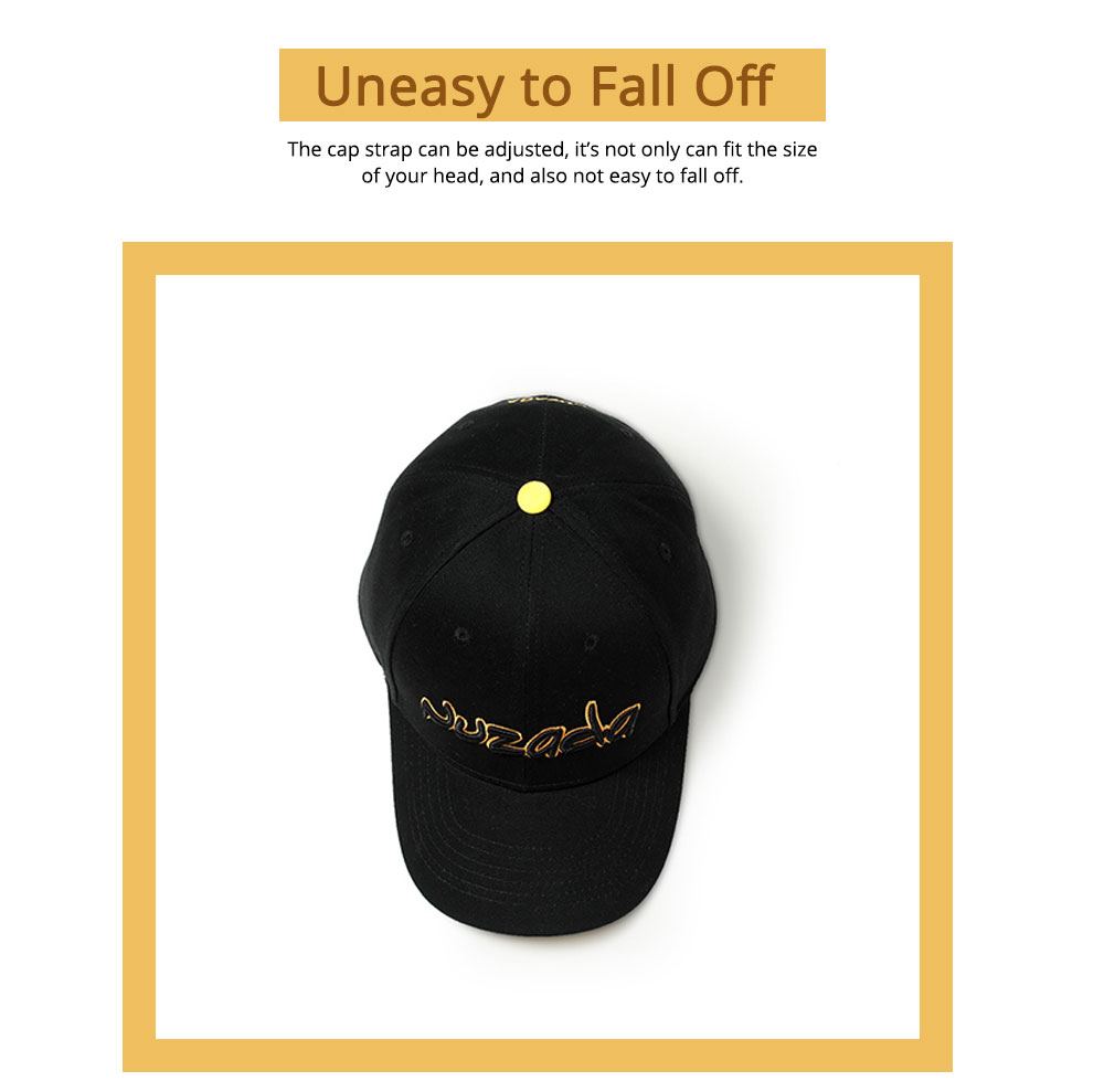 Hip-hop Cap with 3D Embroidery for Women Men, Sunny Day Essential Cap with Adjustable Strap 1