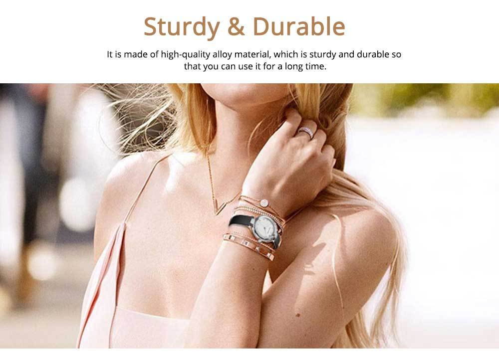 Lady's Watch with Diamonds Imported Quartz Movement for Business, Wear-resistant Crystal Lens Delicate Watches 5