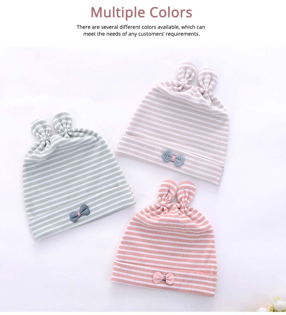 Natural Cotton Hat High Elasticity Headgear with Cute accessories for Baby Cap 5