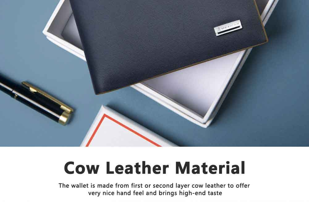 Ultra-thin Small Purse for men and Youth Students, Cow Leather Fashionable Coin Purse Key Chain Wallets 1