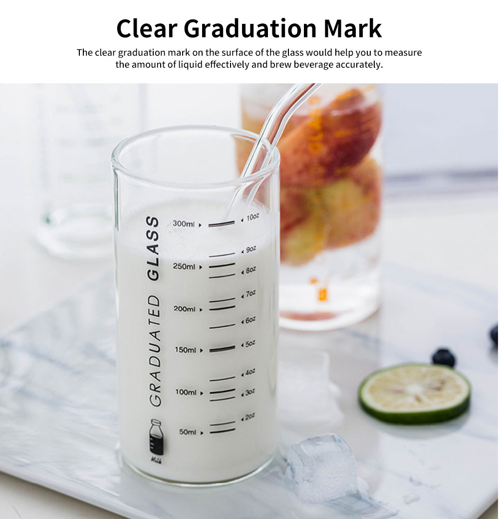 Delicate Transparent High Boron Practical Measuring Glass, Large Capacity Heat-resistant Breaking-proof Glass Cup with Graduation Mark 2