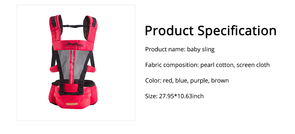 Ergonomic Baby Carrier Baby Sling, Soft & Breathable Baby Carriers Backpack Front and Back for Babies Younger than 36 Months 6