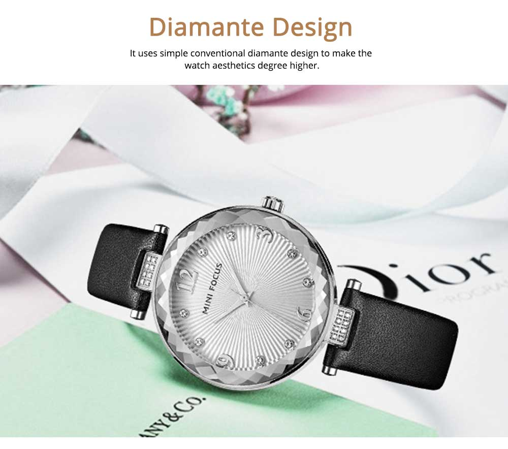 Lady's Watch with Diamonds Imported Quartz Movement for Business, Wear-resistant Crystal Lens Delicate Watches 4
