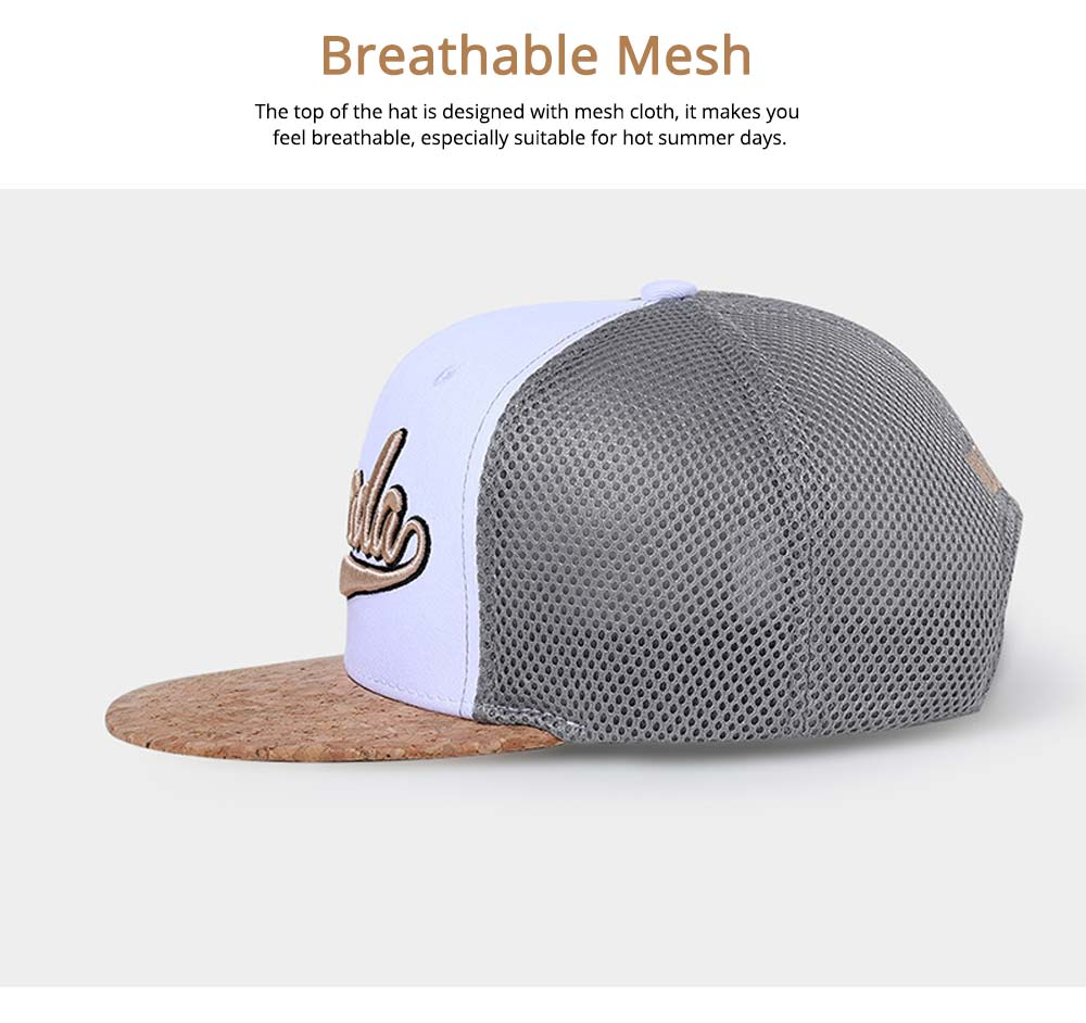 Cotton Hat Headgear with English Letter Pattern Breathable for Women Men Spring Summer Adjustable Cap 4