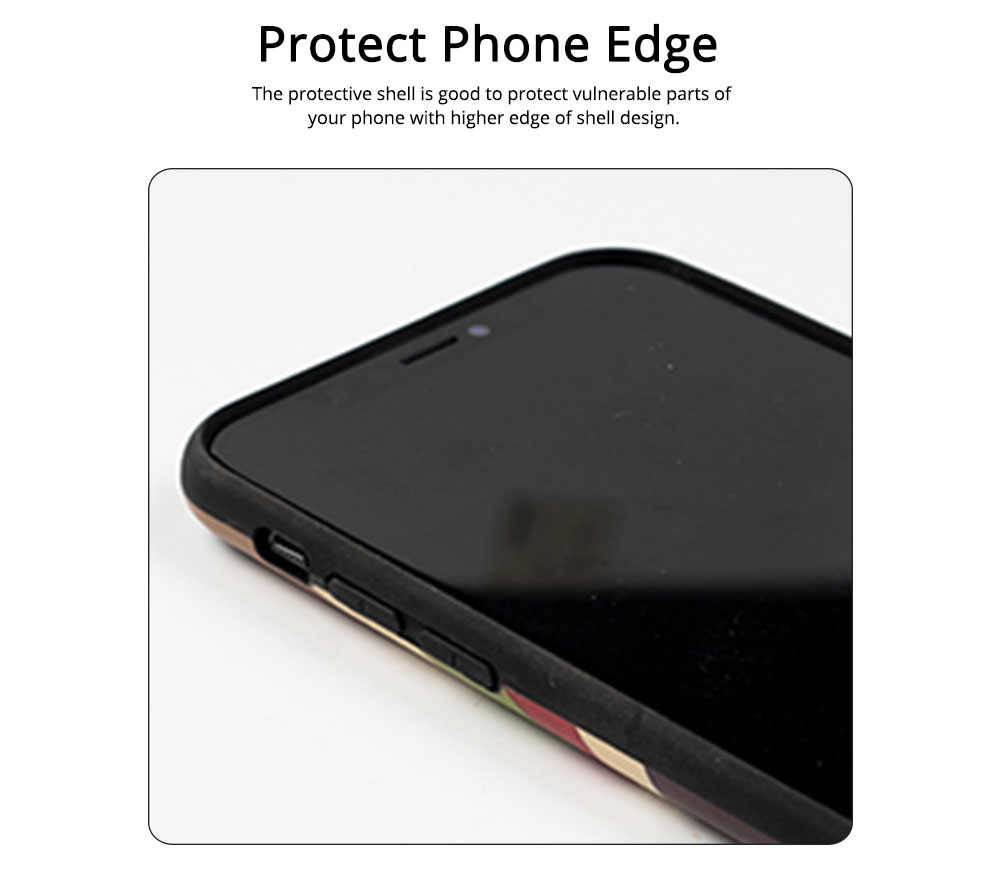 Soft TPU Matte Phone Case Full Enclosed Compatible for iPhone 6 6s 7 8 XS Max XR 7P 8P with Girl Rainbow Print iPhone Shell 3