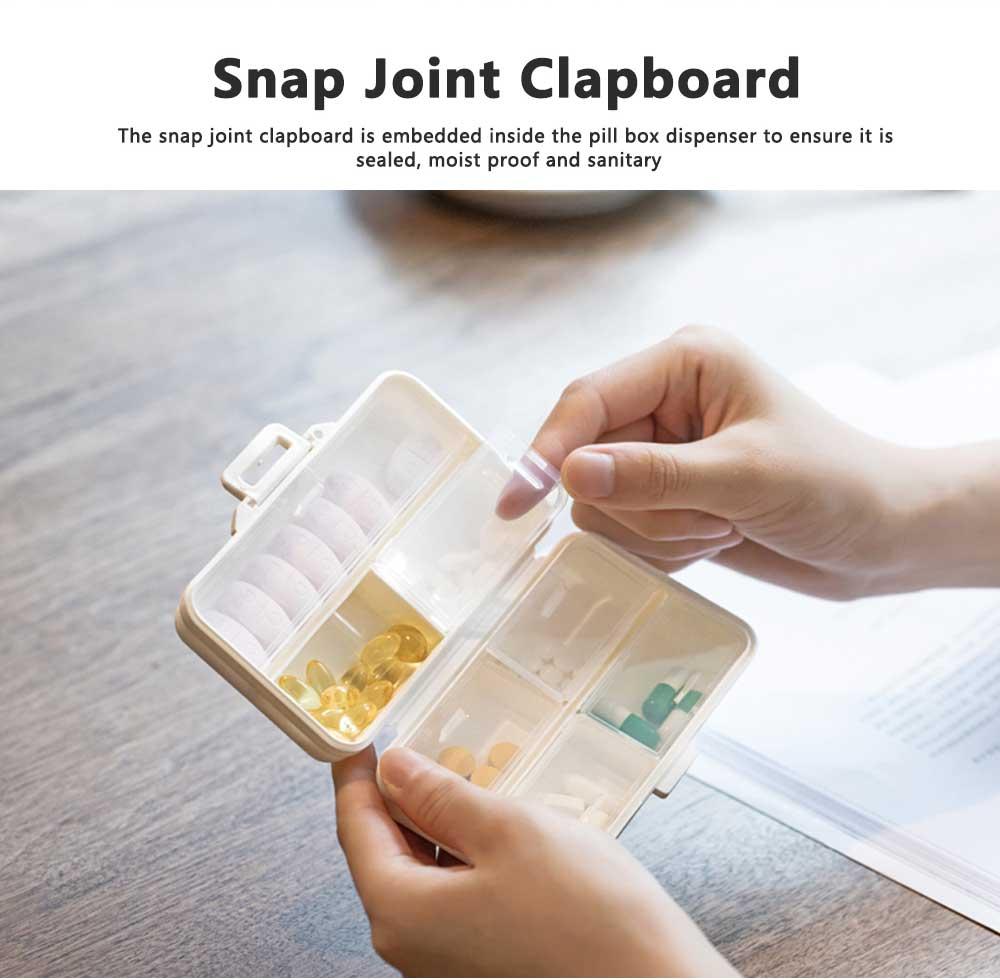 Seven-day Pill Box Dispenser Portable Pill Organizer for Travelling, Mini Medicine Organizer Container with 7 Sub-boxes 3