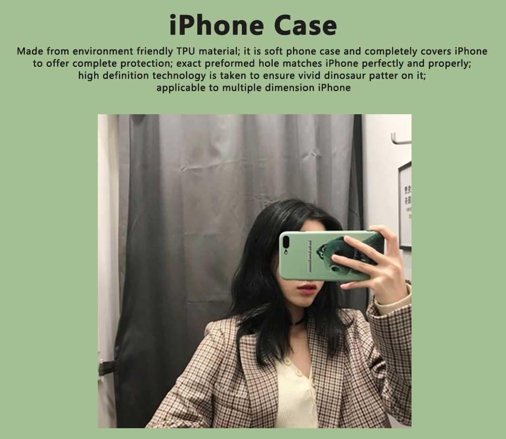 Dinosaur Pattern Creative Phone Case for iPhone 8 plus, iPhone XR,  Trending iPhone 6s/7/7 Plus Phone Cases 0