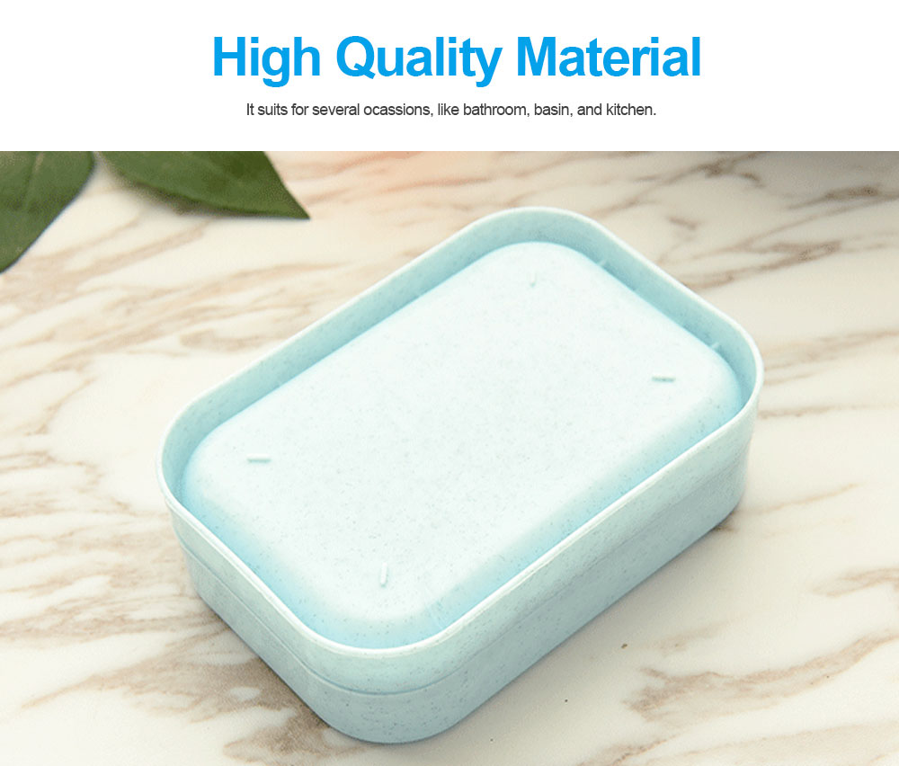 Environmental PP Soap Holder with Grid Drain Container for Bathroom, Kitchen, Multifunctional Soap Dispenser 5