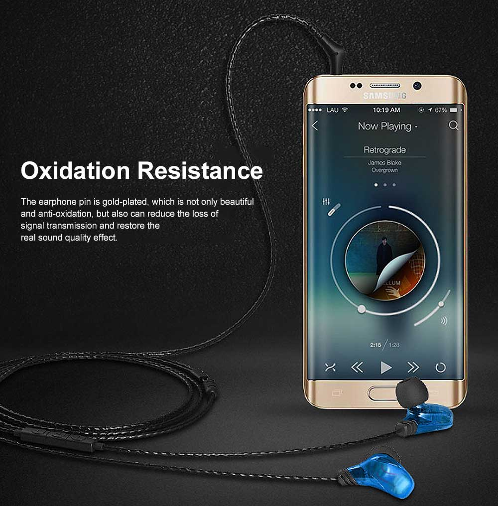 Earphone Three Key Control HIFI Earplug for Sport Common Device Powerful Quality Sound Headset Wire Earpiece 4