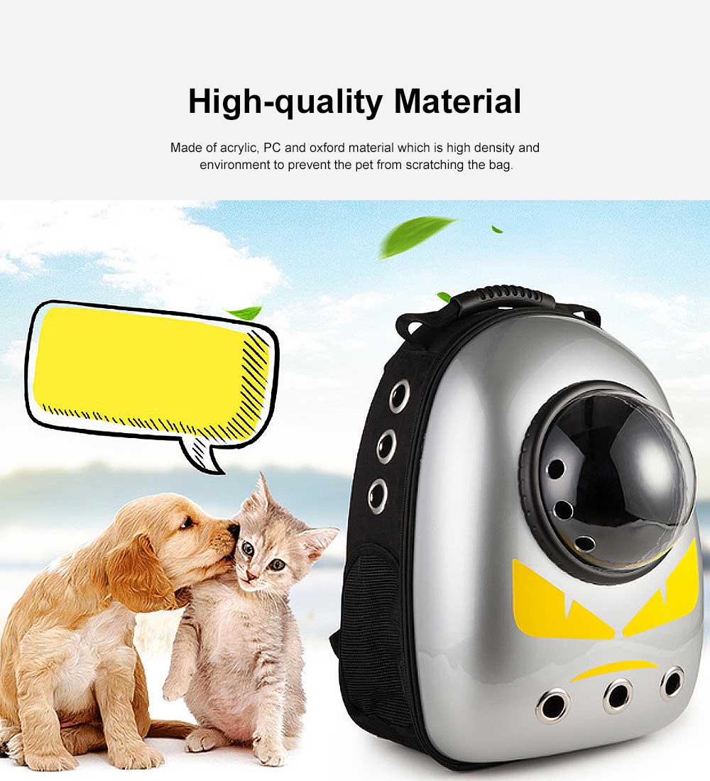 Space Cover Pet Backpack for Cat Dog Breathable Rucksack Acrylic PC Pack-sack Comfortable Bag 2