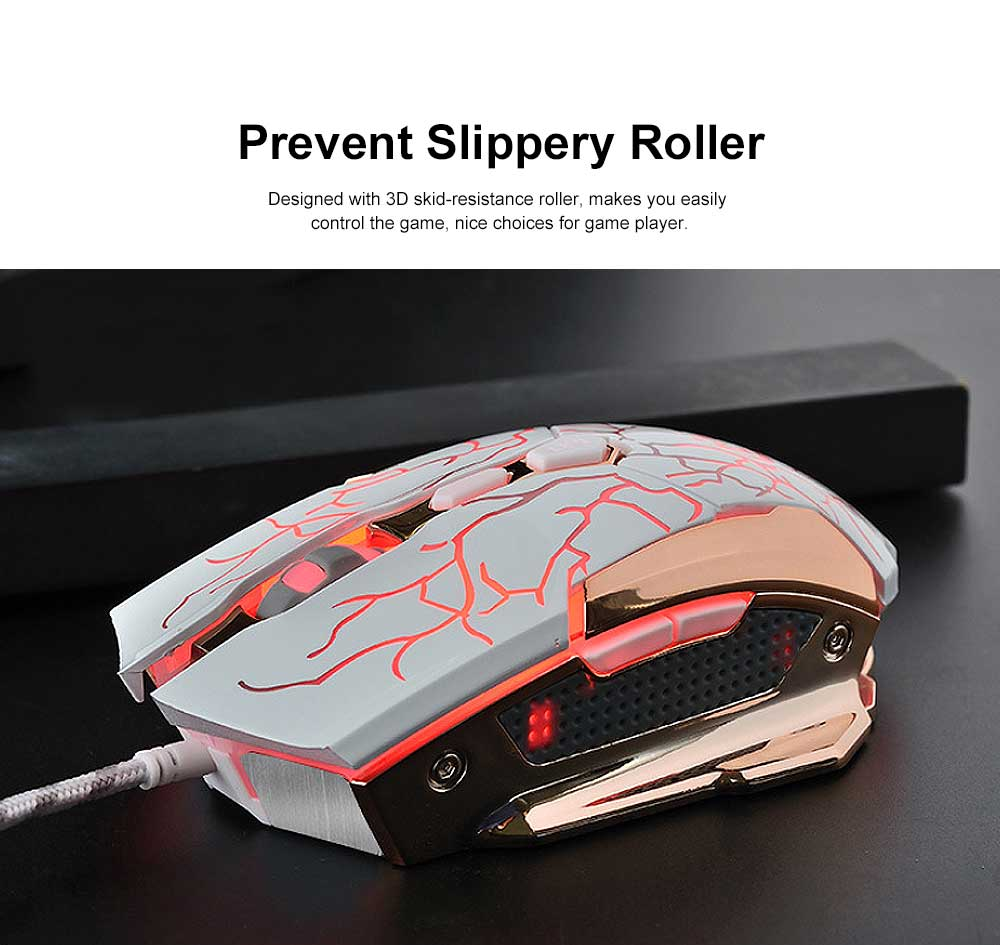 Wired Mouse DPI Adjustment with LED Lighting Metal Base for Game Mouse 4