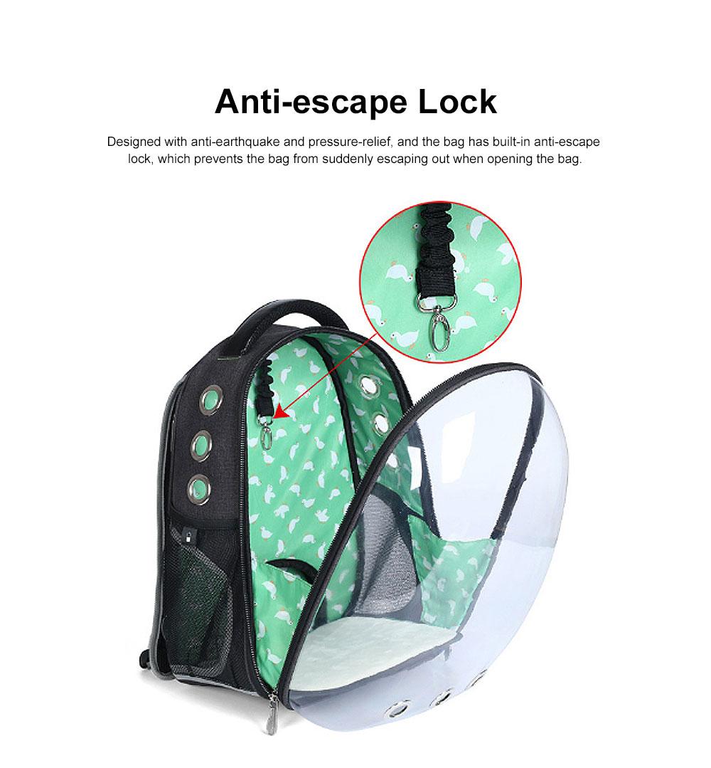 Transparent Knapsack for Pet Dog Cat APET Polyester Material with Vent Design Rucksack Tear-resistance Bag Durable Pack-sack 2