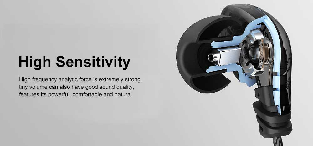 Earphone Three Key Control HIFI Earplug for Sport Common Device Powerful Quality Sound Headset Wire Earpiece 1