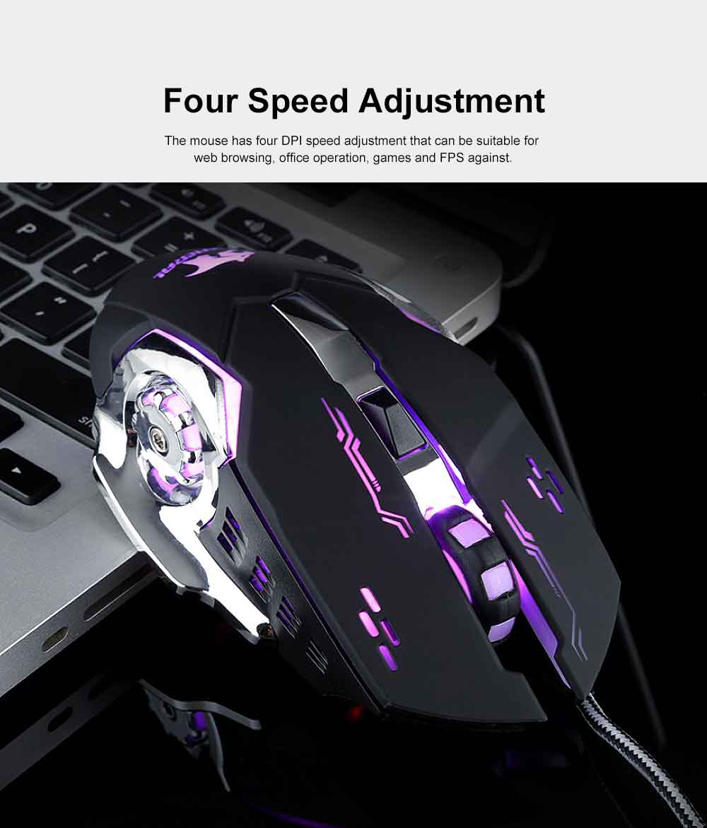 Four DPI Adjustment Mouse with LED for Game Play Computer Case High-performance Wired Mouse 1