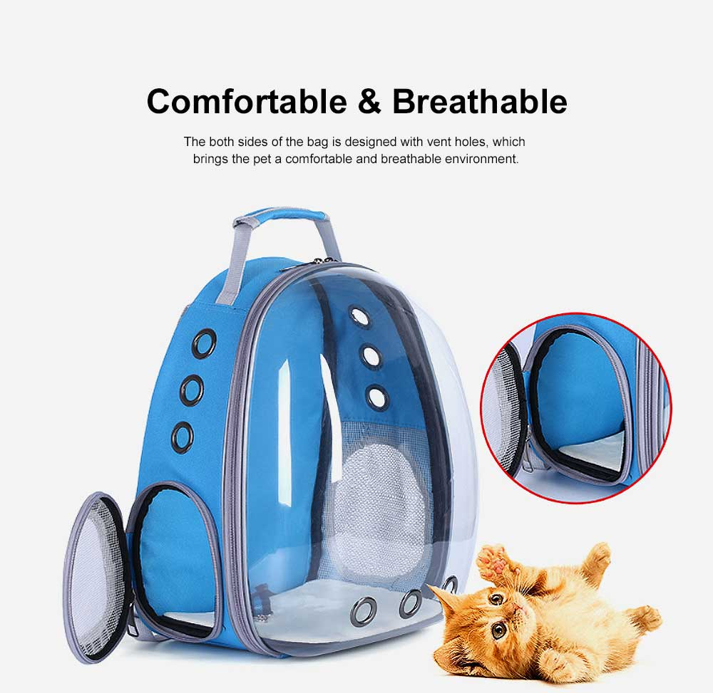 Pet Bag APET Polyester Backpack Breathable Knapsack for Cat Dog Tear-resistance Pack-sack Vent Rucksack 3