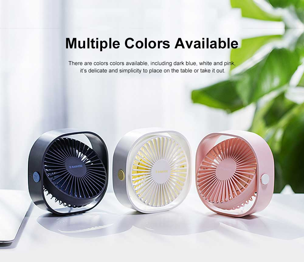 Mini Fan USB Chargeable for Hot Day Silence Outside Office Desk Portable 360° Rotation Fan 5
