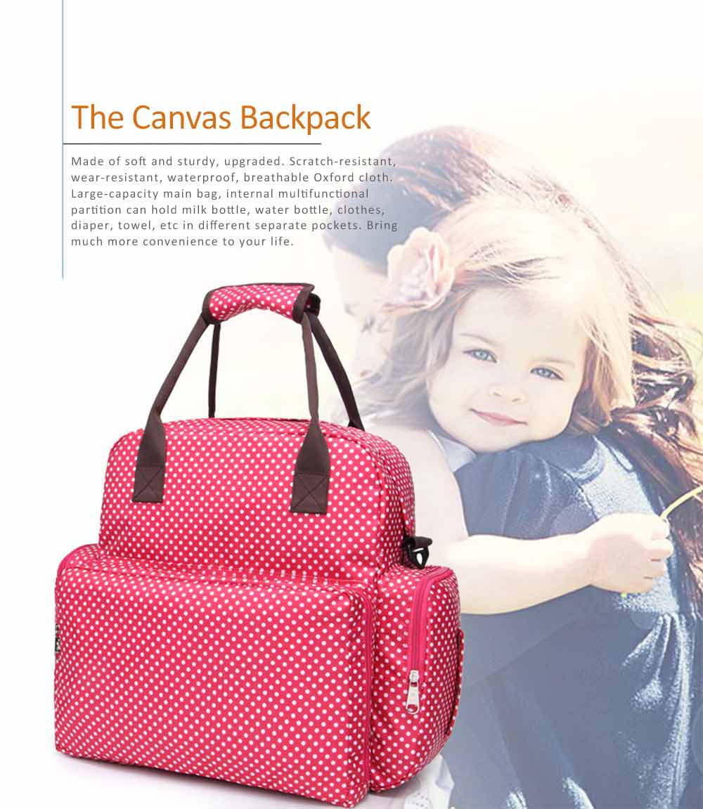 Oxford Cloth Diaper Bag Backpack for Maternal Pregnant, Travel Rucksack Casual Fashion Mummy Bag With Changing Mat 0