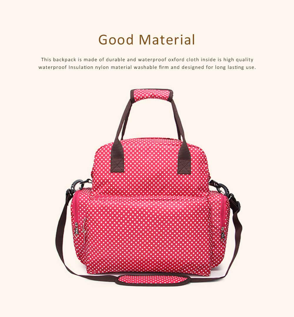 Oxford Cloth Diaper Bag Backpack for Maternal Pregnant, Travel Rucksack Casual Fashion Mummy Bag With Changing Mat 4
