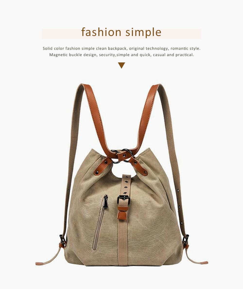 Multifunctional Backpack Shoulder Bag Fashion Casual Canvas Hobo Bags Women Accessories Large Capacity Travel Bag 4