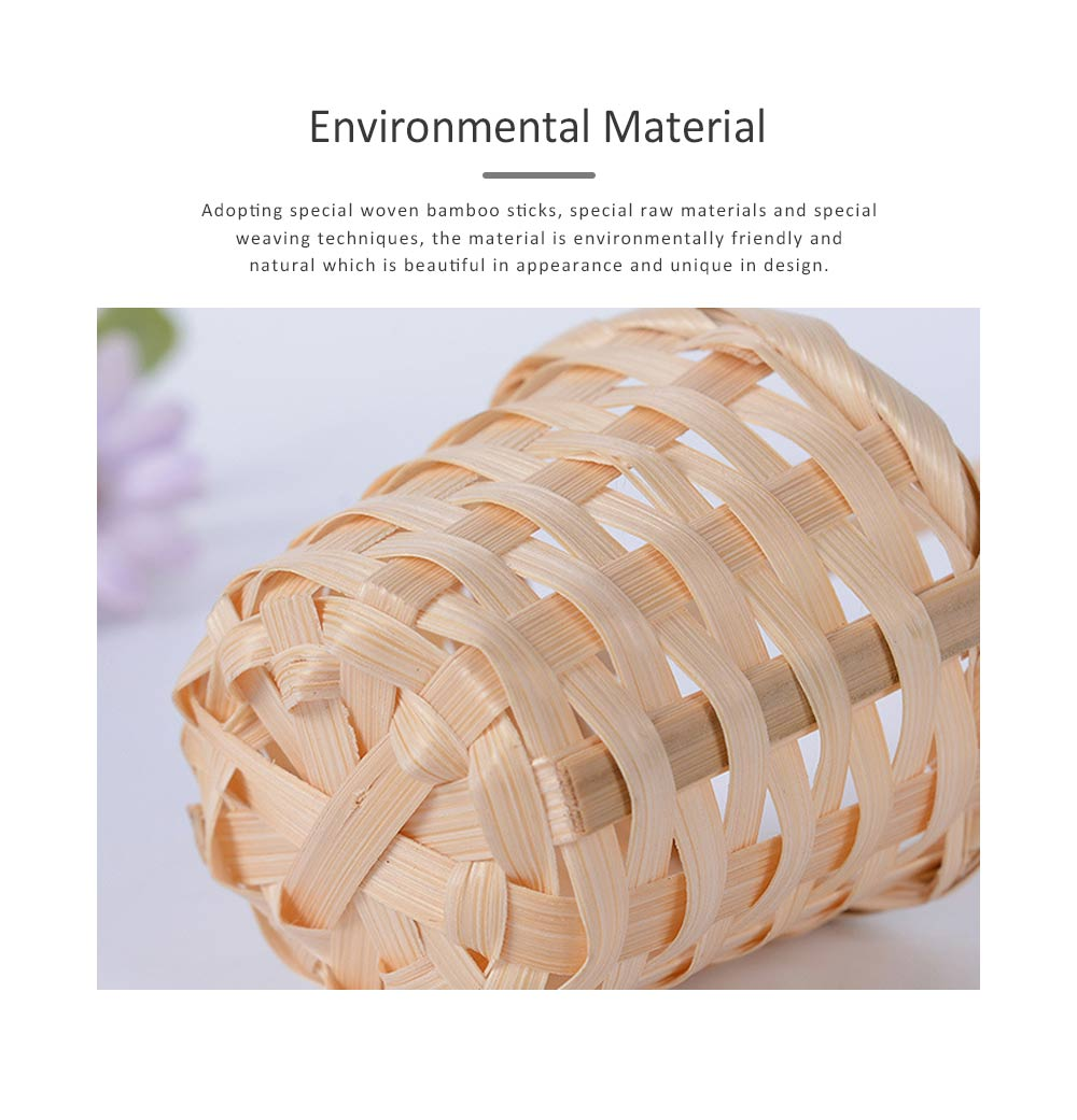 Mini Bamboo Woven Rattan Weaving Basket for Storage, Wedding as Decoration Tool and Shoot Decoration, DIY Handmade Flower Arrangement Basket 3