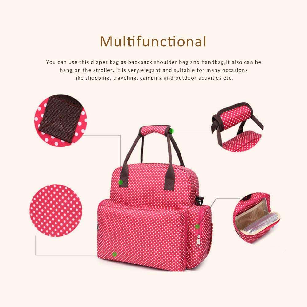 Oxford Cloth Diaper Bag Backpack for Maternal Pregnant, Travel Rucksack Casual Fashion Mummy Bag With Changing Mat 2