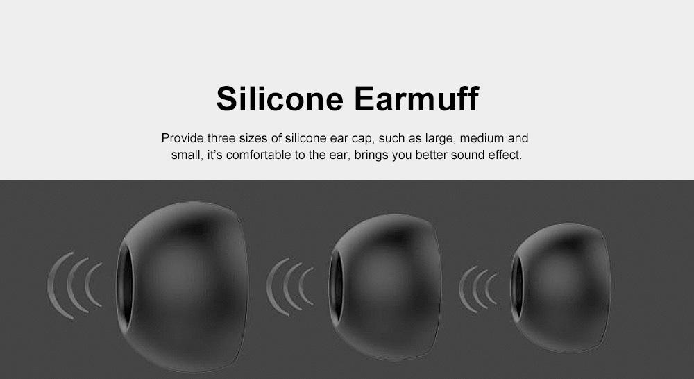 Wire Earphone Anti-pulling Wire Headset Comfortable Wearing HIFI Effect Earpiece Double Dynamic Earplug 6
