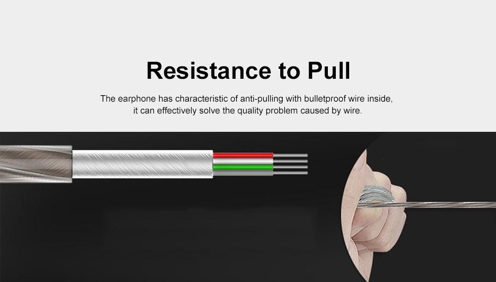 Wire Earphone Anti-pulling Wire Headset Comfortable Wearing HIFI Effect Earpiece Double Dynamic Earplug 4