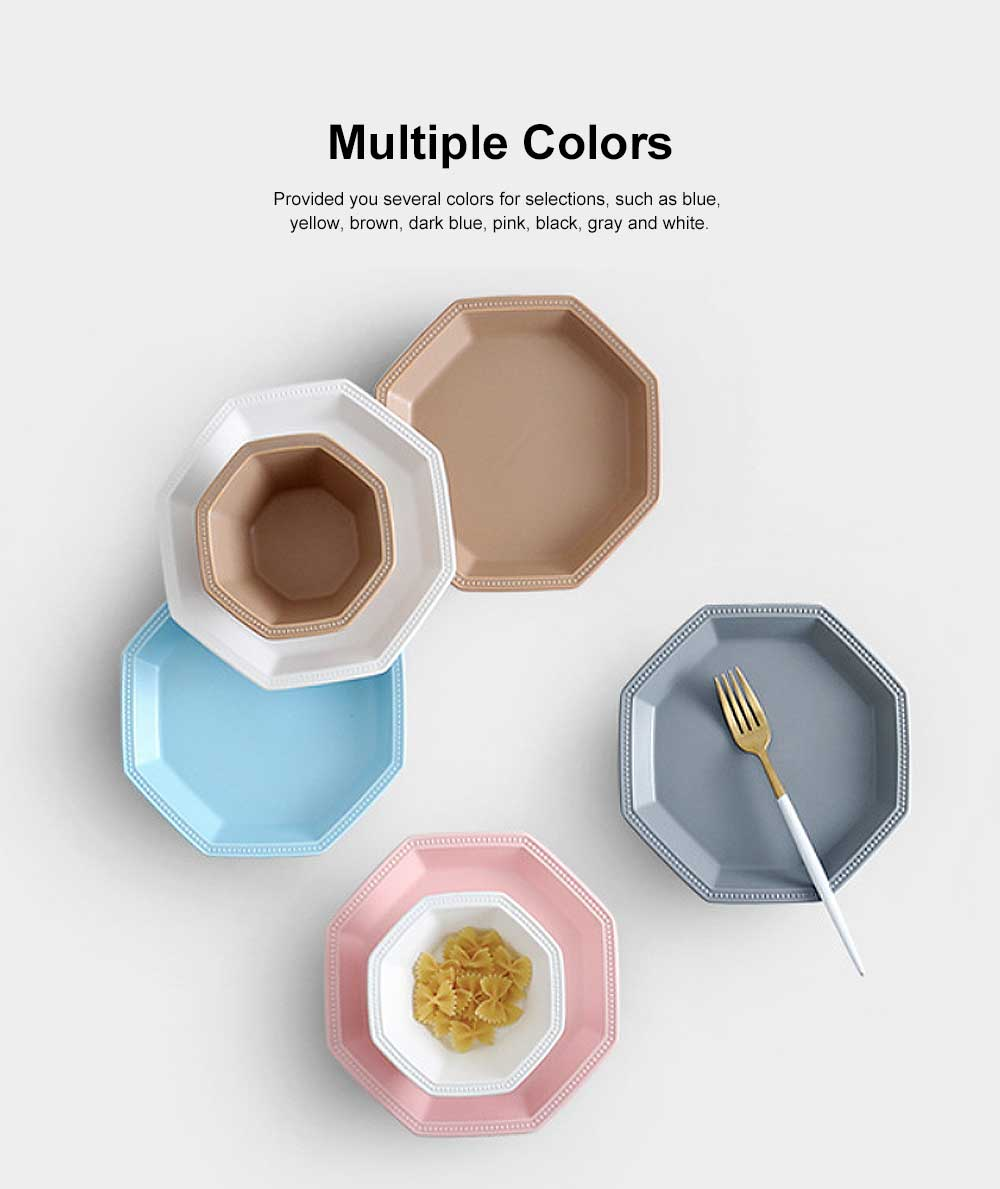 Geometrical Dish Porcelain Material Tray for Home Hotel Foods Hollow-ware Elegant Plate 1