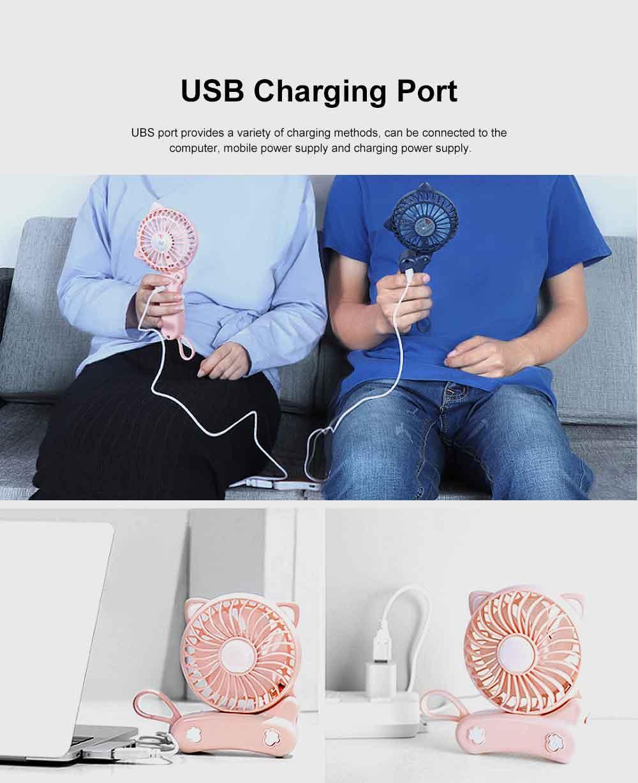 USB Fan Chargeable for Summer Day Kitty Shape Silence Portable Mini Fan 3