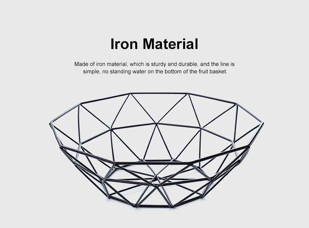 Iron Fruit Basket For Home Store Fruits Tray Line Design Bowl Simple Style Fruit Plate 1