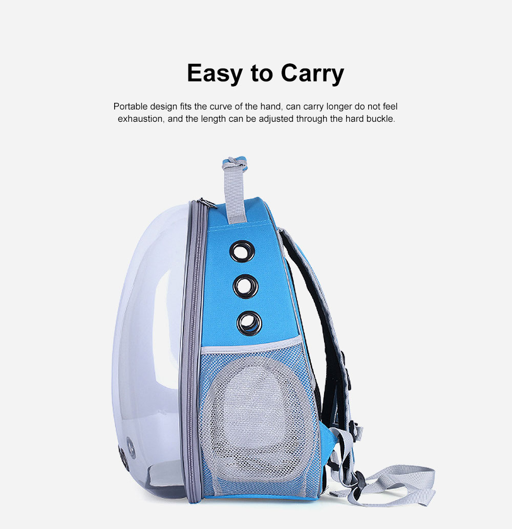 Pet Bag APET Polyester Backpack Breathable Knapsack for Cat Dog Tear-resistance Pack-sack Vent Rucksack 5