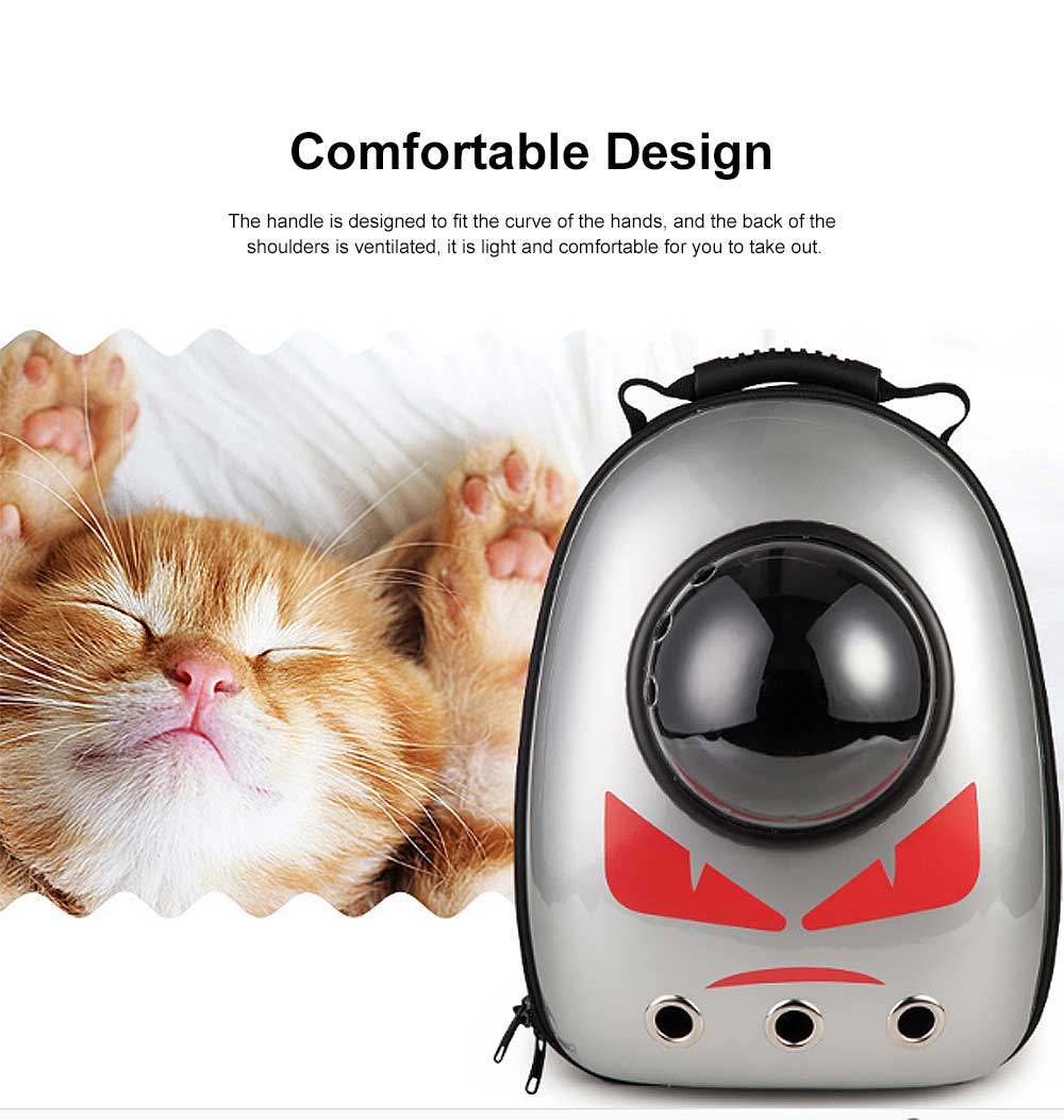 Space Cover Pet Backpack for Cat Dog Breathable Rucksack Acrylic PC Pack-sack Comfortable Bag 5