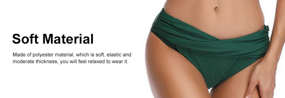 Family Matching Swimsuit Parent-child Polyester Soft Swimwear Pleat Two Piece Swimwear 2