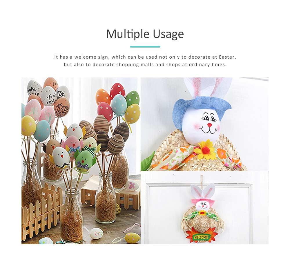 Straw Woven Bunny Hat Rattan Weaving Hat, DIY Handmade Bunny Hats for Easter Day Kids Children  3