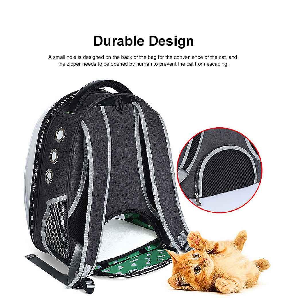 Transparent Knapsack for Pet Dog Cat APET Polyester Material with Vent Design Rucksack Tear-resistance Bag Durable Pack-sack 4